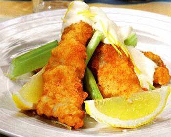 Рыба с лимонным майонезом