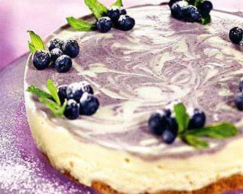 Йогуртовый орт с голубикой и творогом