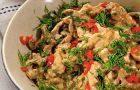 Китайский рыбный суп с креветками